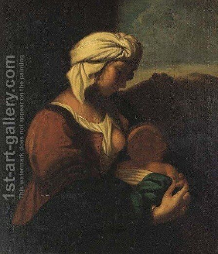 The Madonna and Child by (after) Carlo Francesco Nuvolone - Reproduction Oil Painting