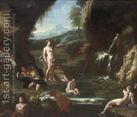 Diana and her Nymphs by (after) Carlo Maratta Or Maratti - Reproduction Oil Painting