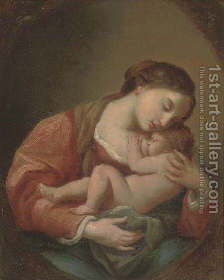 The Madonna and Child 2 by (after) Carlo Maratta Or Maratti - Reproduction Oil Painting