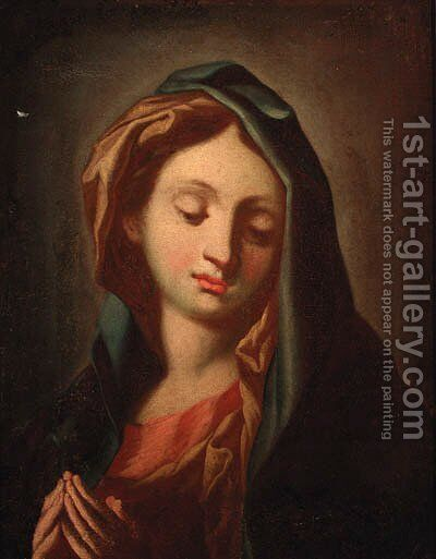 The Madonna at prayer by (after) Carlo Maratta Or Maratti - Reproduction Oil Painting