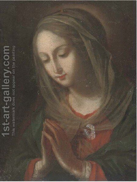 The Virgin at prayer by (after) Carlo Maratta Or Maratti - Reproduction Oil Painting