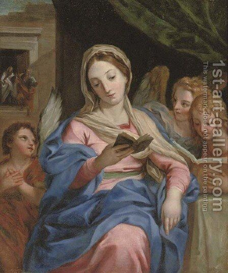 The Virgin with Angels by (after) Carlo Maratta Or Maratti - Reproduction Oil Painting