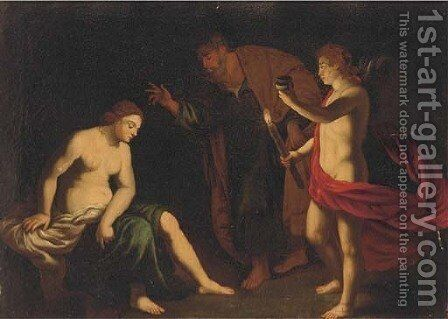 The Raising of Petronilla by (after) Carlo Saraceni - Reproduction Oil Painting