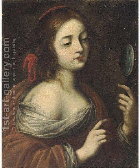 A Personification of Vanity by (after) Cesare Dandini - Reproduction Oil Painting