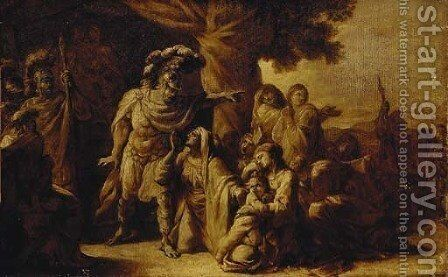 The family of Darius before Alexander 2 by (after) Charles Le Brun - Reproduction Oil Painting