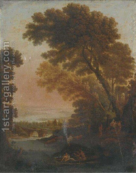 The Rest on the Flight into Egypt by (after) Claude Lorrain (Gellee) - Reproduction Oil Painting