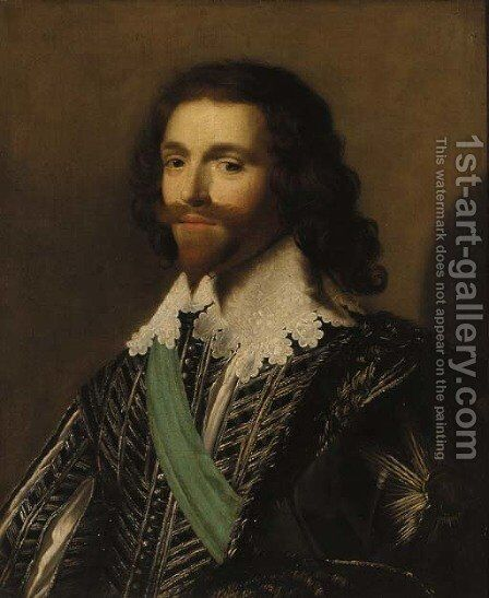 Portrait of George Villiers (1592-1628), 1st Duke of Buckingham by (after) Daniel Mytens - Reproduction Oil Painting