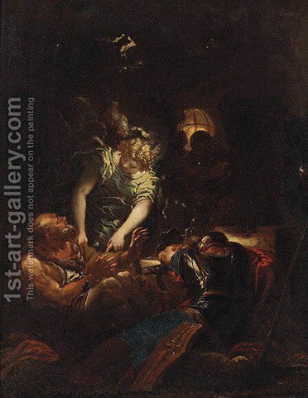 The Liberation of Saint Peter from Prison by (after) Daniel Seiter - Reproduction Oil Painting