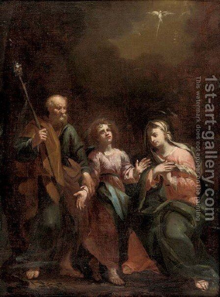 The Holy Family by (after) Daniele Crespi - Reproduction Oil Painting