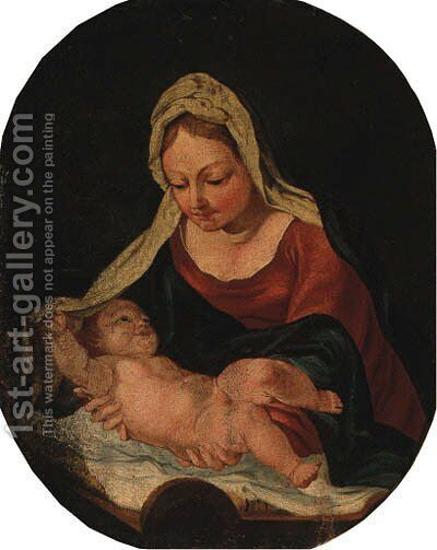 The Madonna and Child 2 by (after) Daniele Crespi - Reproduction Oil Painting