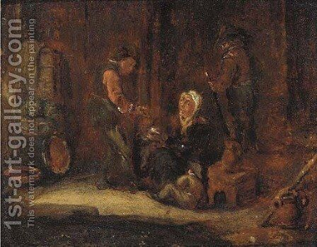 A minor dispute by (after) David The Younger Teniers - Reproduction Oil Painting