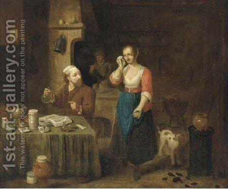 An apothecary's surgery by (after) David The Younger Teniers - Reproduction Oil Painting
