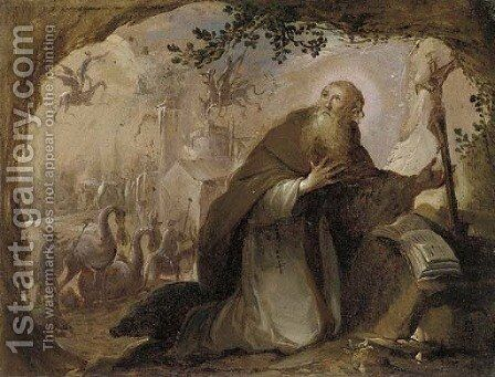 The Temptation of Saint Anthony 3 by (after) David The Younger Teniers - Reproduction Oil Painting