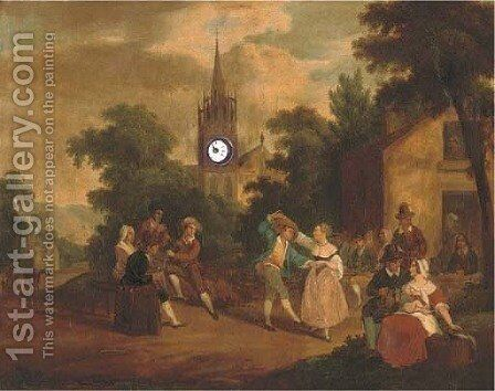 Village celebrations by (after) David III Teniers - Reproduction Oil Painting