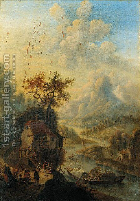 The swineherd by (after) David The Younger Teniers - Reproduction Oil Painting
