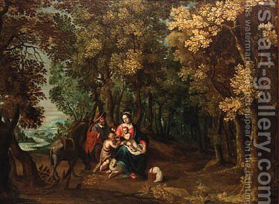 The Rest on the Flight into Egypt by (after) David Vinckboons I - Reproduction Oil Painting