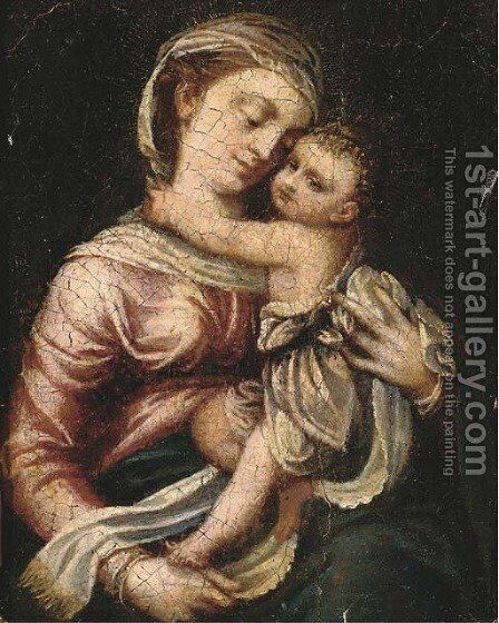 The Madonna and Child by (after) Denys Calvaert - Reproduction Oil Painting
