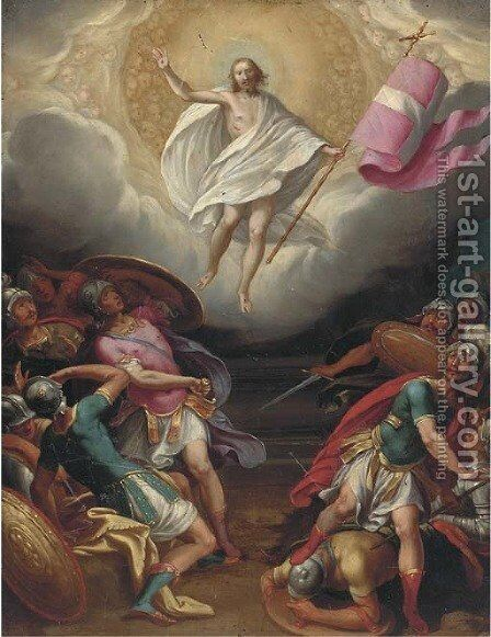 The Resurrection by (after) Denys Calvaert - Reproduction Oil Painting