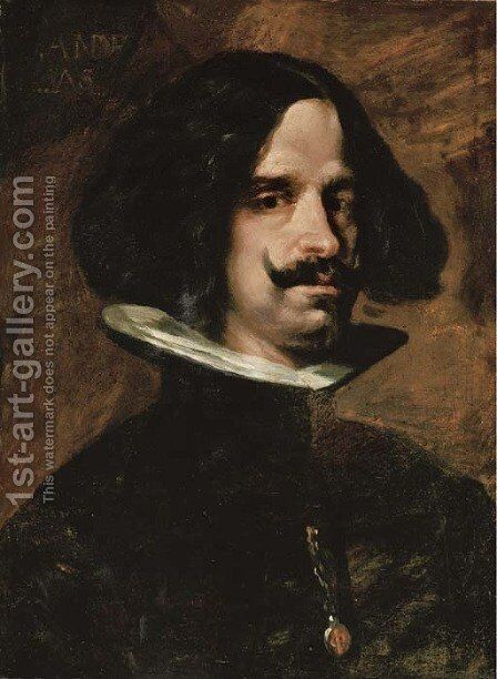 Self-portrait 2 by (after) Diego Rodriguez De Silva Y Velazquez - Reproduction Oil Painting