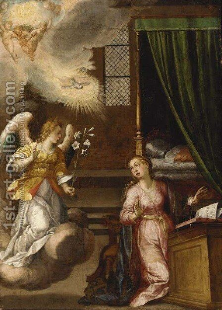 The Annunciation 5 by (after) Denys Calvaert - Reproduction Oil Painting