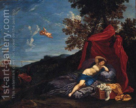The departure of Aeneas by (after) Domenichino (Domenico Zampieri) - Reproduction Oil Painting