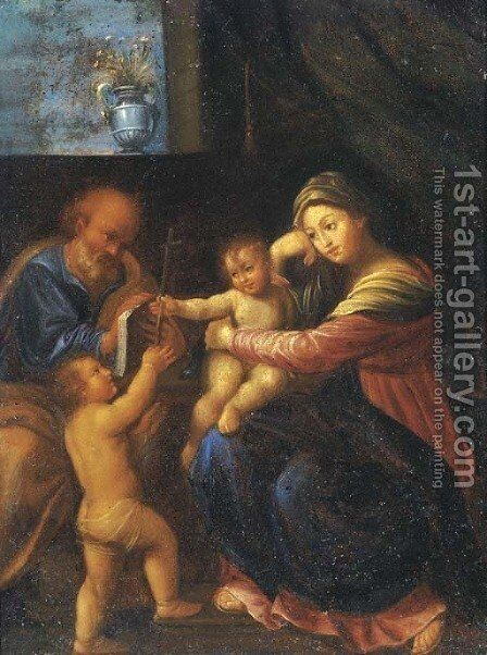 The Holy Family with the Infant Saint John the Baptist by (after) Domenichino (Domenico Zampieri) - Reproduction Oil Painting