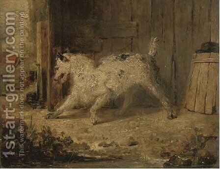 In the backyard by (after) Edmund Bristow - Reproduction Oil Painting