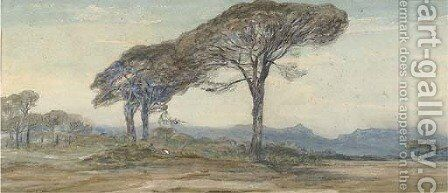 Respite from the afternoon sun by (after) Edward Lear - Reproduction Oil Painting