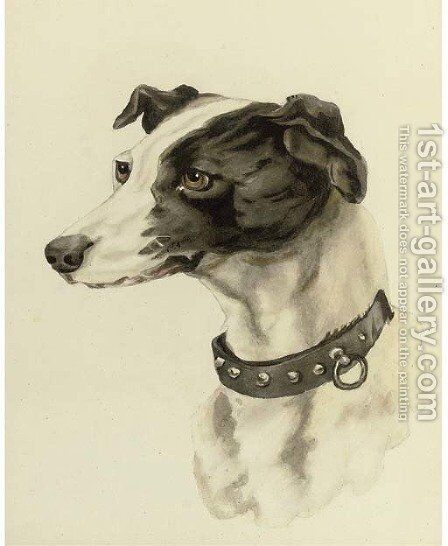 Portrait of a whippet by (after) Edwin Loder - Reproduction Oil Painting