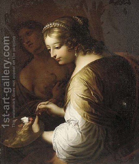 Portrait of an artist by (after) Elisabetta Sirani - Reproduction Oil Painting