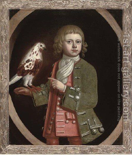 Portrait of a young boy by (after) Enoch Seeman - Reproduction Oil Painting