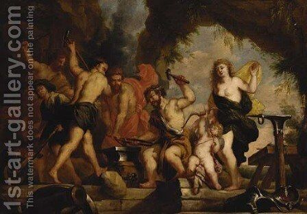 Venus at the Forge of Vulcan by (after) Erasmus II Quellin (Quellinus) - Reproduction Oil Painting