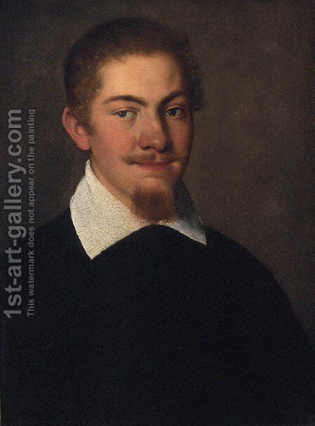 Portrait of a gentleman by (after) Federico Fiori Barocci - Reproduction Oil Painting