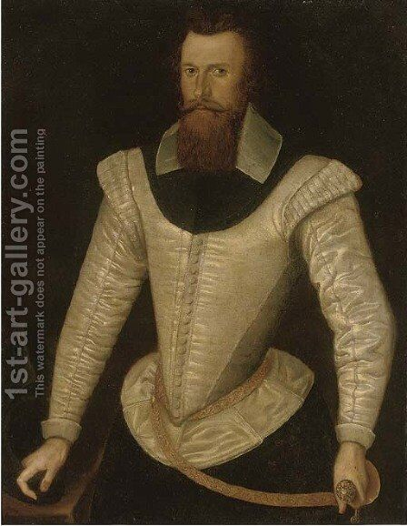 Portrait of a gentleman, traditionally identified as Henry Stuart, Lord Darnley by (after) Federico Zuccari - Reproduction Oil Painting