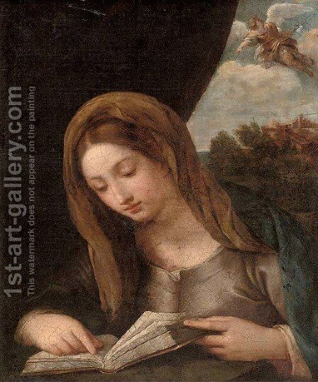 The Annunciation by (after) Francesco Furini - Reproduction Oil Painting