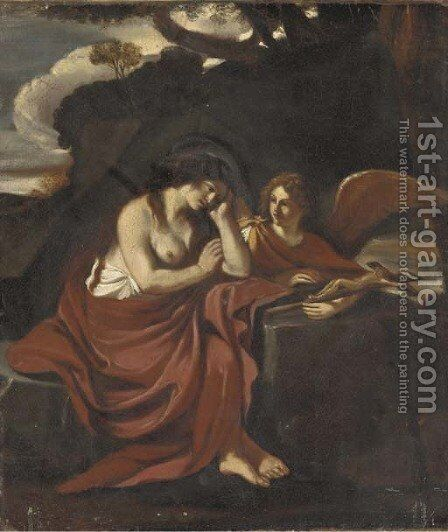 The Penitent Magdalen by (after) Giovanni Francesco Guercino (BARBIERI) - Reproduction Oil Painting