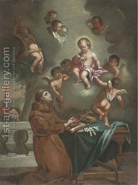 The vision of Saint Antony of Padua by (after) Carlo Francesco Nuvolone - Reproduction Oil Painting