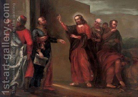 Christ driving the Money-Changers from the Temple by (after) Francesco Solimena - Reproduction Oil Painting