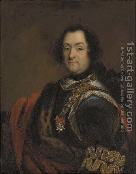 Portrait of a gentleman by (after) Francesco Solimena - Reproduction Oil Painting