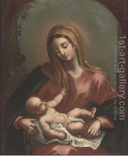 The Madonna and Child by (after) Francesco Solimena - Reproduction Oil Painting