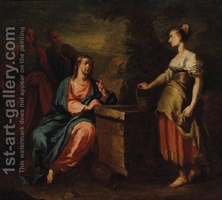Christ and the Woman of Samaria by (after) Francesco Trevisani - Reproduction Oil Painting