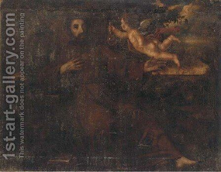 Saint Francis by (after) Of Francisco De Ribalta - Reproduction Oil Painting
