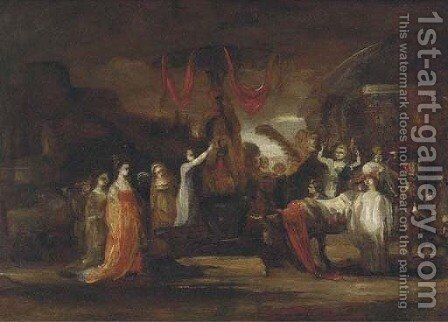 A scene of pagan worship by (after) Francisco De Goya Y Lucientes - Reproduction Oil Painting