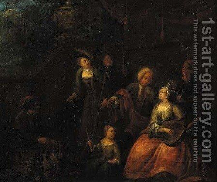 A Fete Champetre by (attr. to) Verbeeck or Verbeecq, Franz - Reproduction Oil Painting