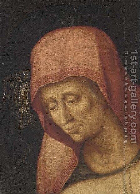 Head of an old lady a fragment by (attr. to) Floris, Frans - Reproduction Oil Painting