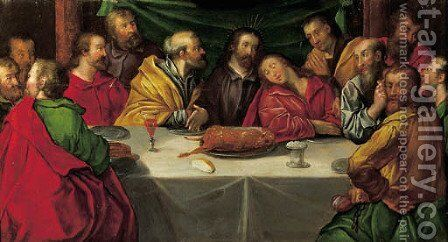 The Last Supper by (after) Frans I Francken - Reproduction Oil Painting
