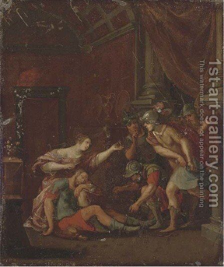 Samson and Delilah by (after) Frans II Francken - Reproduction Oil Painting