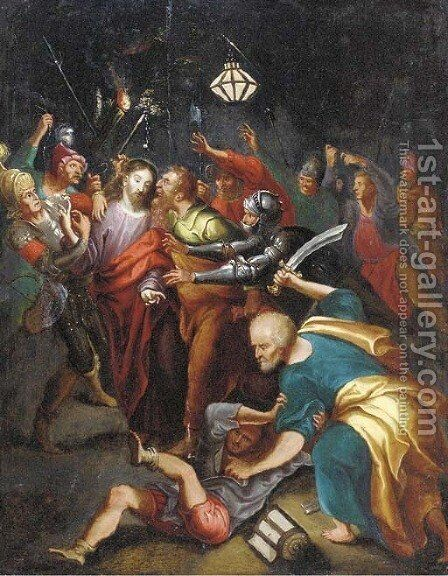 The Betrayal of Christ by (after) Frans II Francken - Reproduction Oil Painting