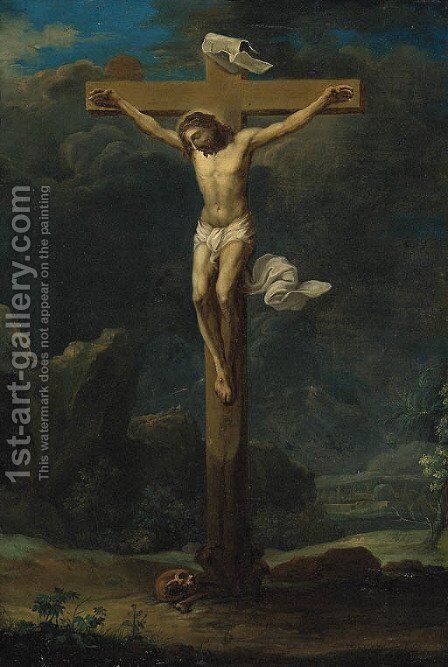 The Crucifixion 2 by (after) Frans II Francken - Reproduction Oil Painting