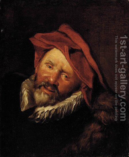 Head of a man by (after) Frans Hals - Reproduction Oil Painting